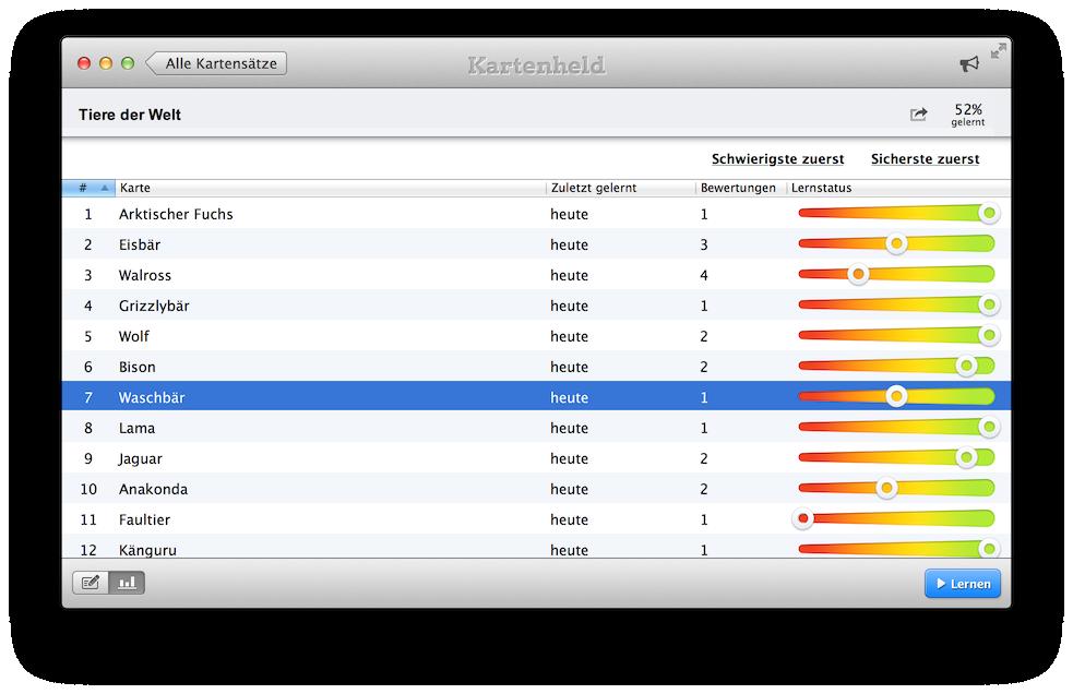 Kartenheld Mac app: Karteikarten Software für den Mac