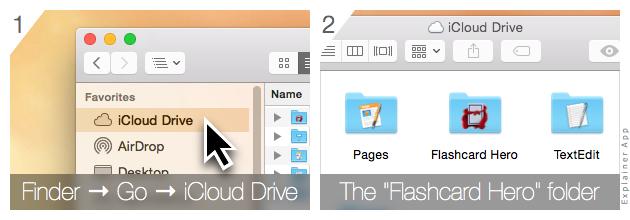 Storing decks in iCloud